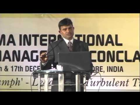 IMA International Management Conclave (2011) - Mr. Raghvendra Singh (Collector - Indore City)
