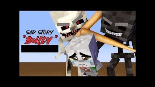 MONSTER SCHOOL BABIES : BULLY Skeleton brothers VS. Wtiher's Father - Minecraft Animation