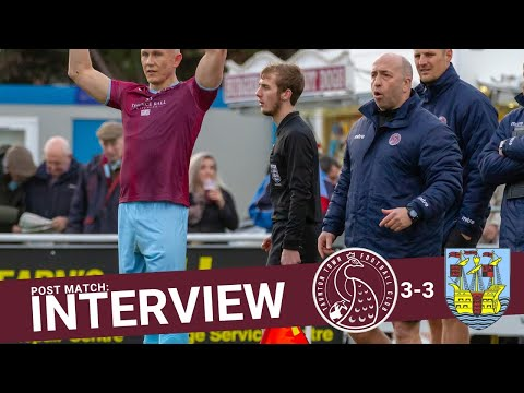 Rob Dray Post Match Interview: Taunton Town 3-3 Weymouth