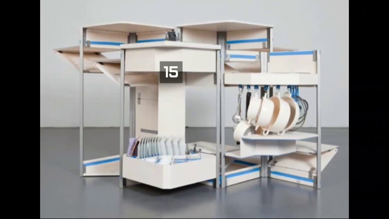 [Low Budget] Top 15 Most Practical Space Saving Furniture Designs For Small  Kitchen   YouTube