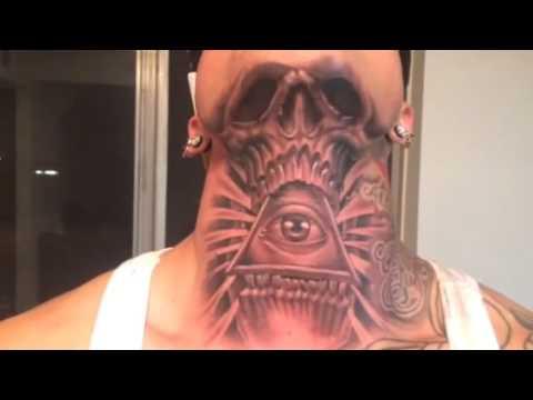 Small cross tattoos on neck