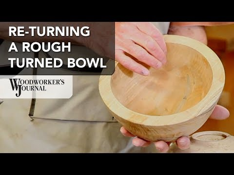 How to Turn a Rough Turned Bowl After Drying | Woodturning