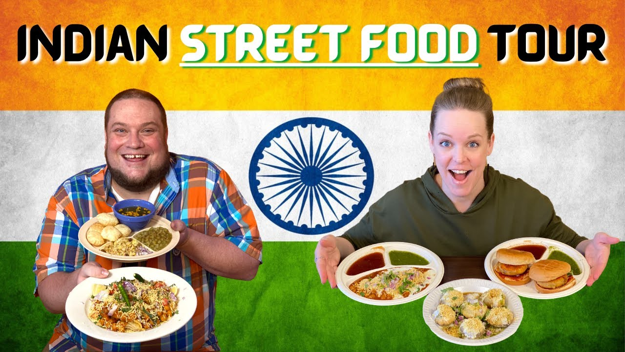 Veg Indian street food tour in Houston!! Indian food reaction!!