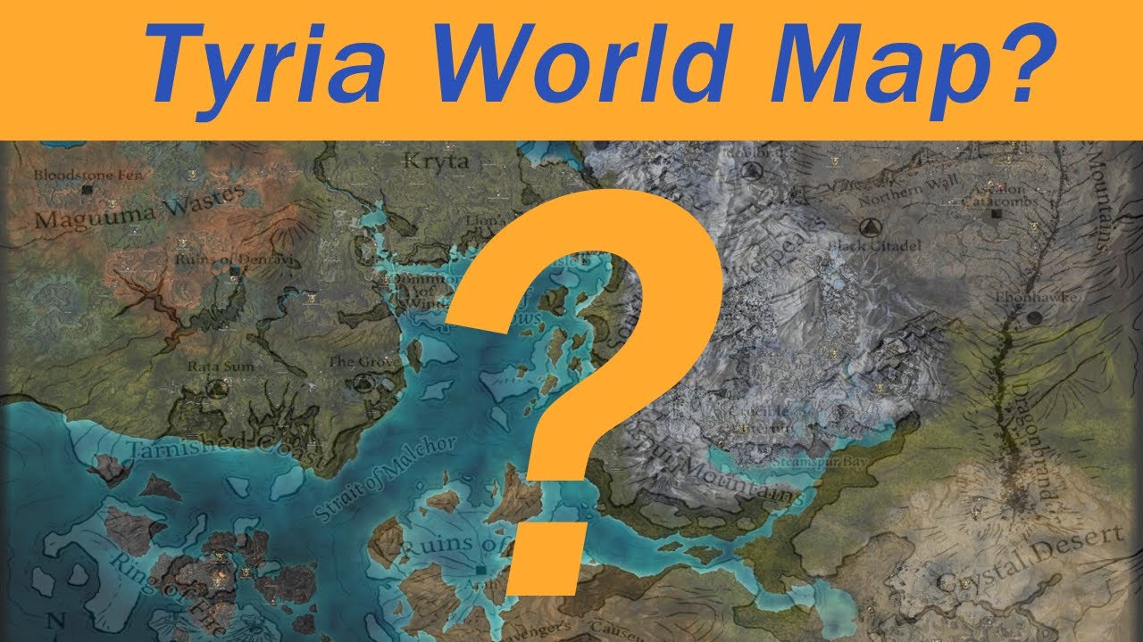 Guild Wars 1 World Map.Guild Wars 2 New Unmapped Area Of Tyria Youtube