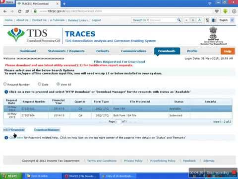 HOW TO GENERATE FORM16 OR FORM16A TDS CERTIFICATE ONLINE
