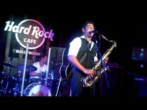 Danny Nucci on Sax at The Hard Rock