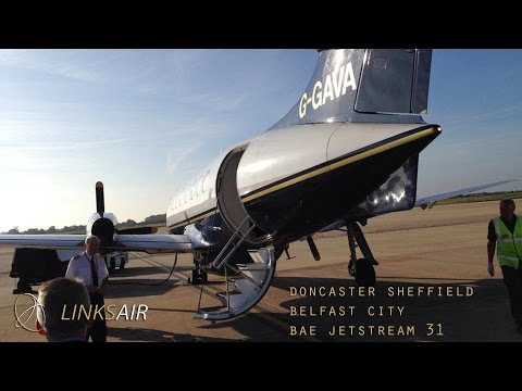 Links Air Full Flight - Doncaster to Belfast City (Jetstream