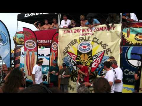 Jupiter Fall Classic Surf Contest 2011 Awards Ceremony - Jeremy Johnston Wins