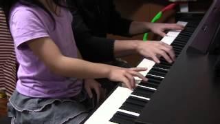 父と娘(小2)で連弾しました。 【A four-handed performance. Father a...