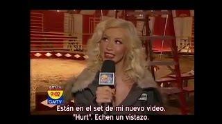 "Christina Aguilera - Entrevista GMTV Backstage video ""Hurt"" (Subtítulos español)"