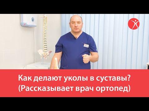 Как делают уколы в суставы? (Рассказывает врач ортопед)