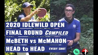 Idlewild 2020 Paul McBeth vs Eagle McMahon  Head to Head with Hole Maps