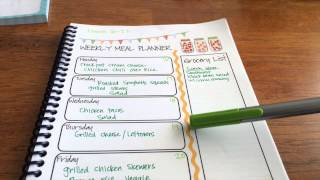 Meal Plan With Me March 16, 2015