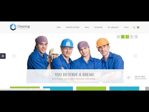 Joomla шаблон Cleaning Company 1.0.3. Сайт услуг - знакомство и скачать бесплатно