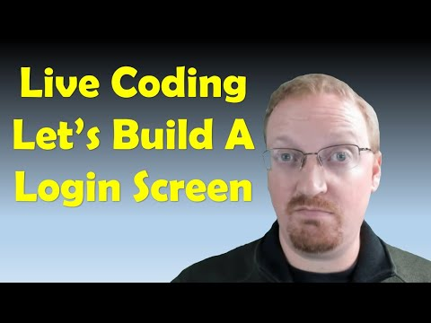 Let's Build A Login Screen In Microsoft Access Databases With Vba | Live Stream