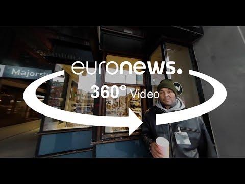Egy romániai Fedél Nélkül-árus napja Oslóban - 360-as videóval