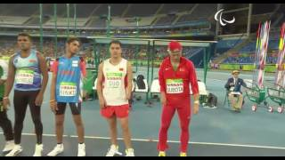 Men's Javelin Throw - F46 Final - Rio 2016