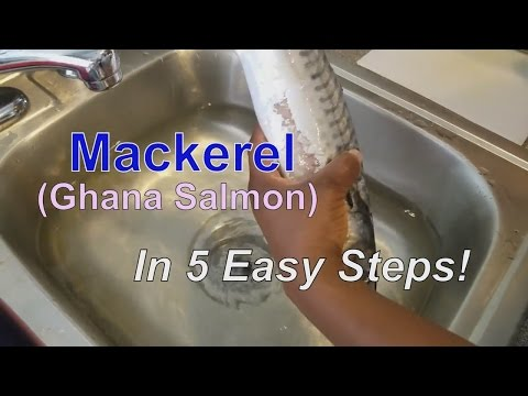 How to make Baked Mackerel | Ghana Salmon in 5 Easy steps