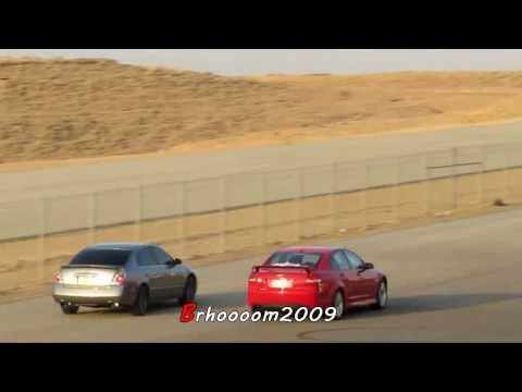 Altima 3.5 VS Pontiac G8 - ألتيما معدلة مع لومينا اس اس