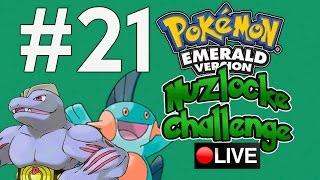 POKÉMON: A LIVE! - Nuzlocke Challenge: Pokémon Emerald (GBA) | EPISÓDIO 21