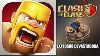 Clash of Clans - bomba gigante colocada no lugar certo , bombardeia magos