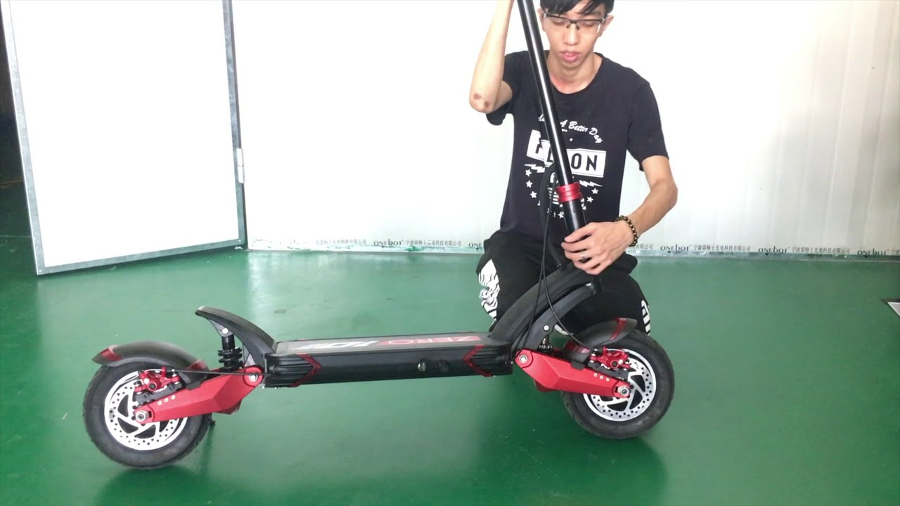 Zero 10x -- A Dual Suspension  Dual Motor E-scooter  Folding And Unfolding