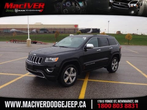 2015 Black Jeep Grand Cherokee Limited Newmarket Ontario