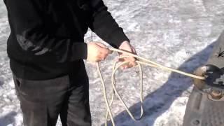 1 способ крепления пожарной спасательной веревки за конструкцию