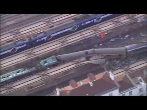 Paris Train Crash Six Killed In 'Catastrophe' (Aerial Footage)