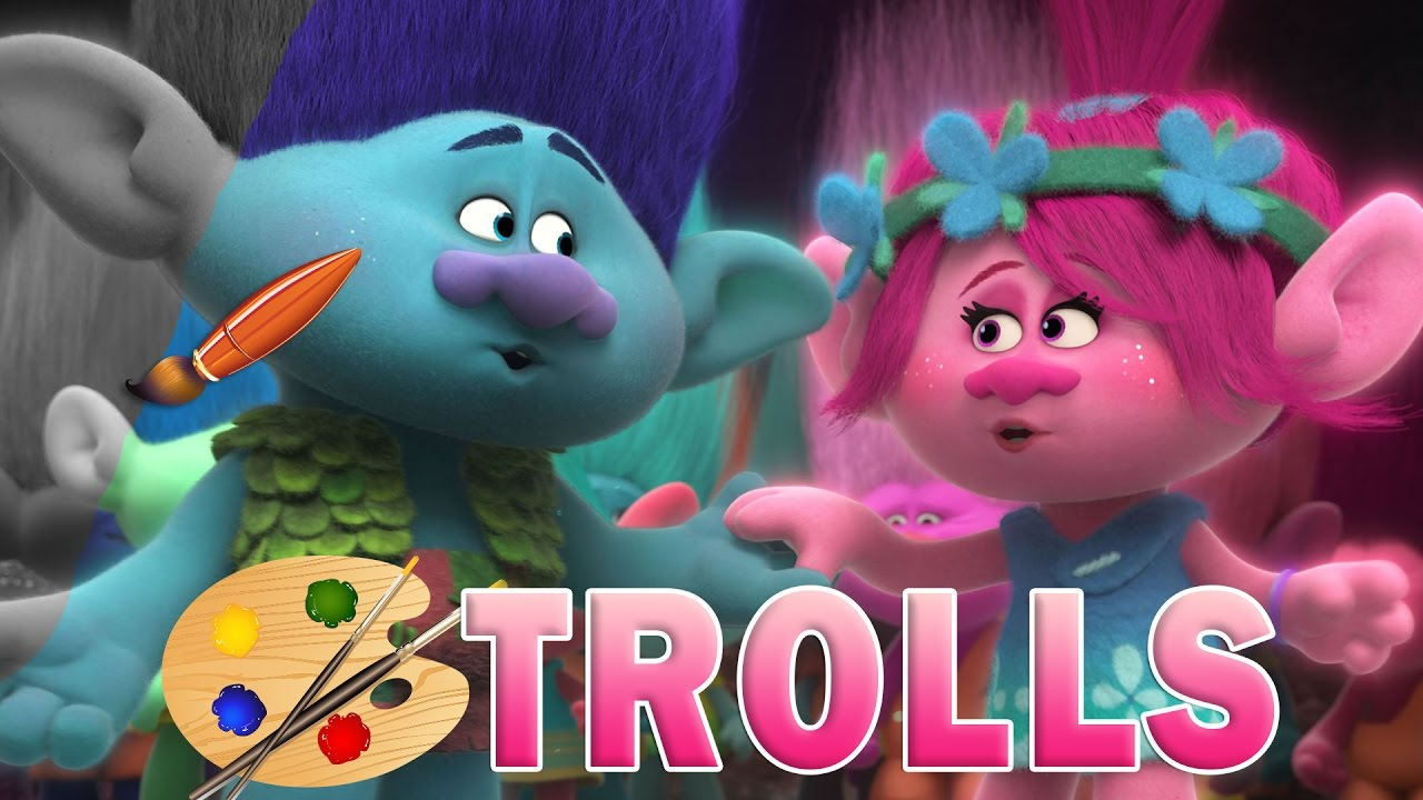 Coloring Pages Trolls : Trolls movie kids coloring book coloring pages for children
