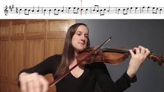 Go Tell Aunt Rhody Violin Duet Play-a-Long