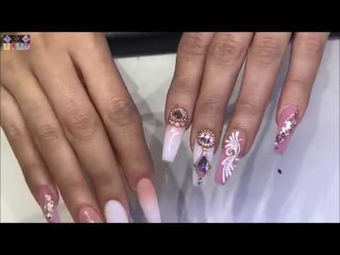 new art design-FLOWER 3D/alex nail art design/NAIL TECHNICIAN-CHRISTINE/THE BEST NAIL ART -2018 #3