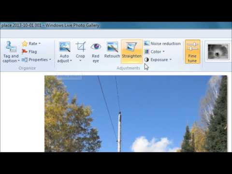 Windows Live Gallery Editing Tutorial