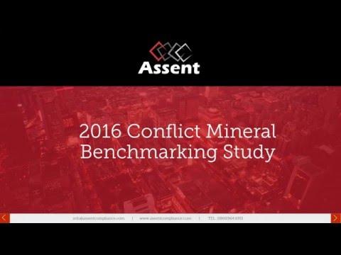 [Webinar] 2016 Conflict Minerals Benchmarking Study