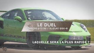 Porsche GT3 RS vs Suzuki GSX-R - Laquelle est la plus rapide ? -  V6