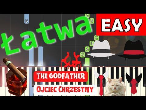 🎹 Melodia z filmu Ojciec Chrzestny (Godfather theme) - Piano Tutorial (łatwa wersja) (EASY) 🎹