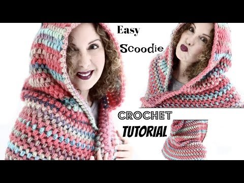 Easy Vibrant Fall Scoodie Crochet Tutorial