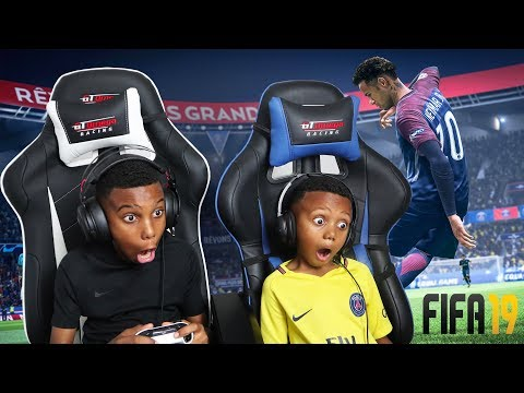 LOSING TO A 5 YEAR OLD, FIFA 19 MY FIRST GAME PLAY