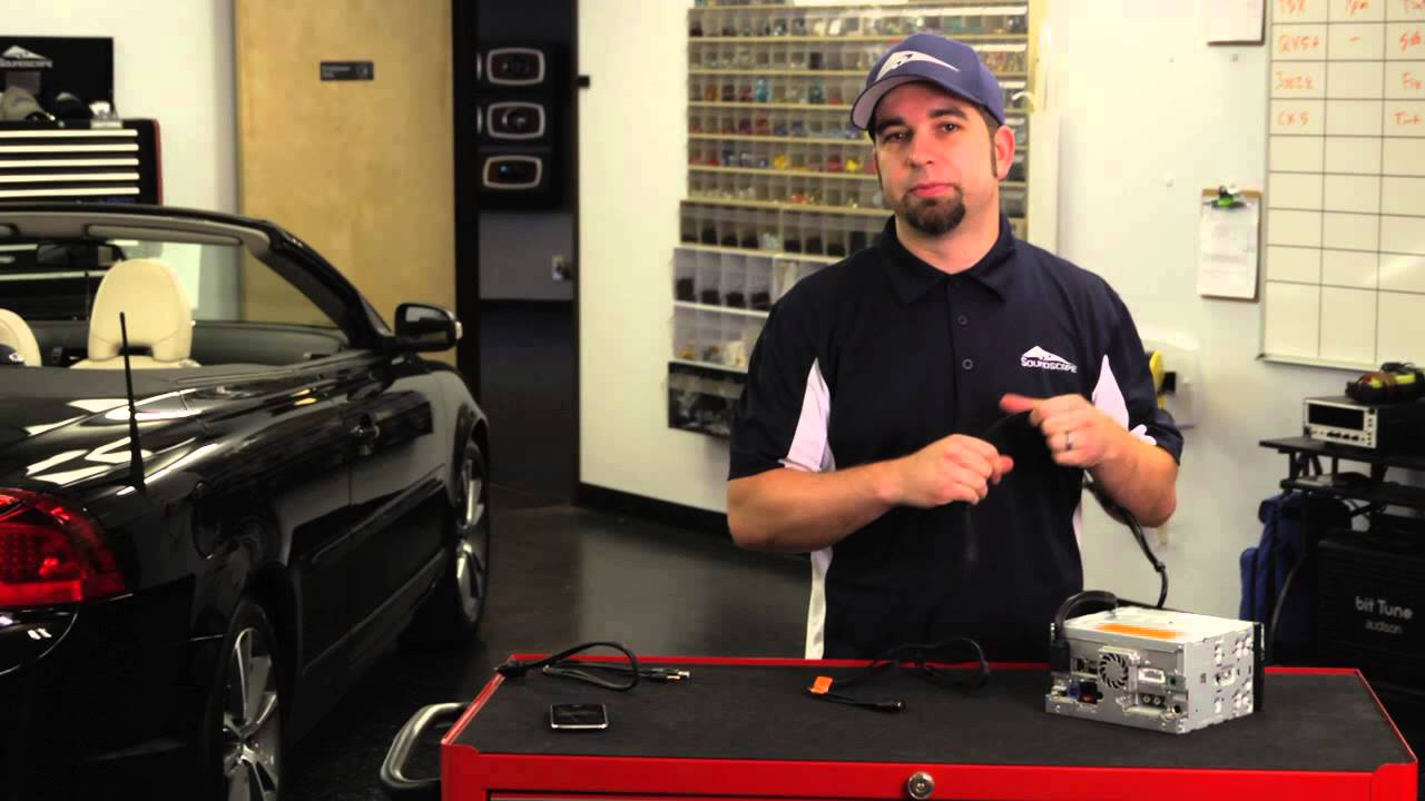 How To Install Ipod Auxiliary Cable For A Pioneer Stereo Car Audio Mini Speaker Jack Wiring Youtube