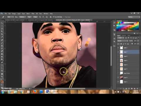 how to create a chris brown cartoon with photoshop youtube