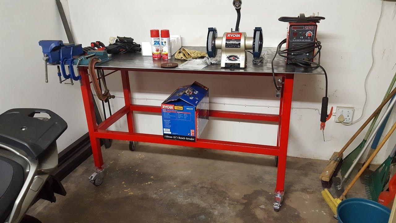 My Workshop Genesis Part 1 Welding Bench Build Youtube