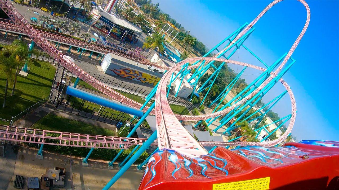Xcelerator Roller Coaster at Knott's Berry Farm! 4K Onride POV