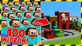100 WIDZÓW buduje KFC! *wow*