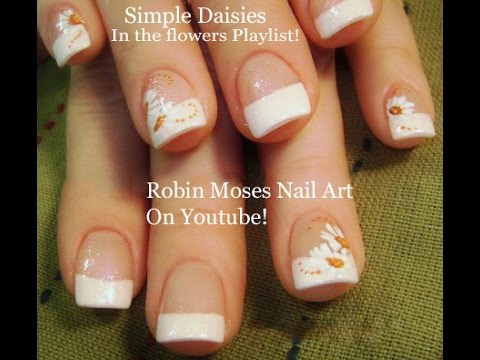 Diy Easy Daisies Nail Art Design White Daisy Nails Tutorial For