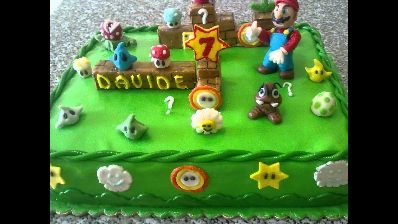 Torta Super Mario Bros  YouTube