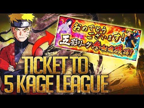 ** QUALIFYING FOR THE 5 KAGE LEAGUE *   ** Naruto Ultimate Ninja Blazing *
