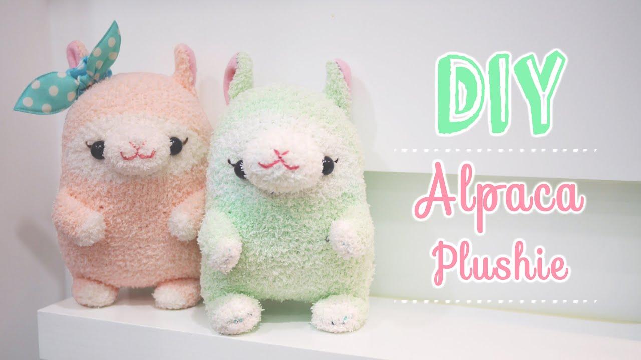 Kawaii Alpaca Sock Plushie Tutorial - DIY - YouTube