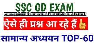 General awareness for SSC GD exam
