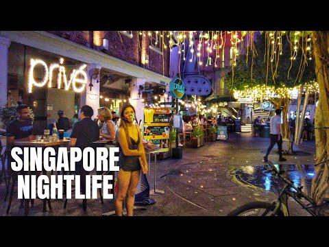 Singapore Night Life Scenes (Clarke Quay / Robertson Quay / Telok Ayer / Marina Bay Sands)