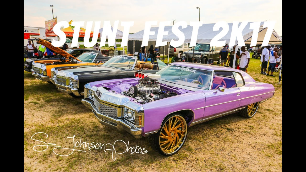 StuntFest 2k17 in HD (must see)(Big rims, muscle cars, models ...